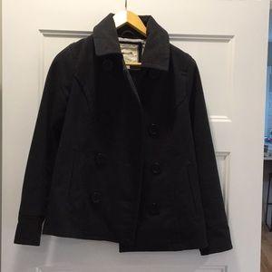 Dark gray pea coat